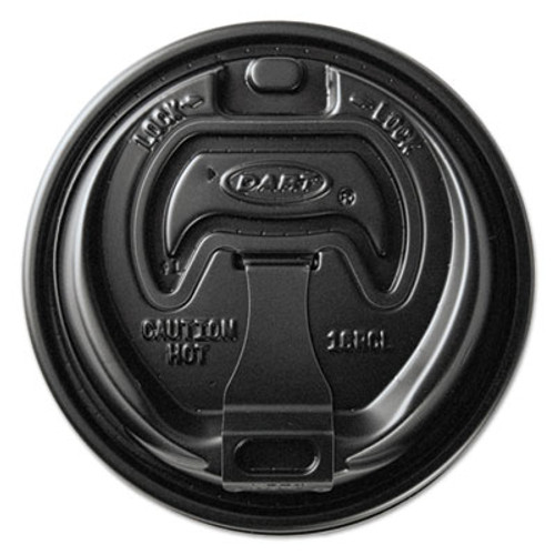 Dart Optima Reclosable Lids for Paper Hot Cups for 10-24 oz Cups  Black  1000 Carton (SCCOPT316B)