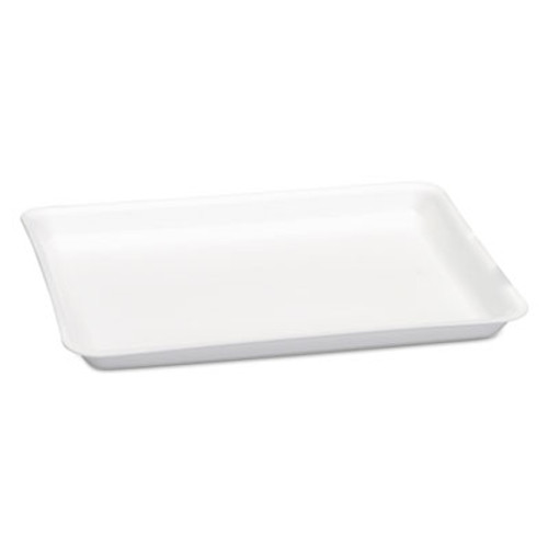 Genpak Supermarket Tray, Foam, White, 9 1/4 x 12.13 x 3/4, 125/Bag, 2 Bag/Carton (GNP9LWH)