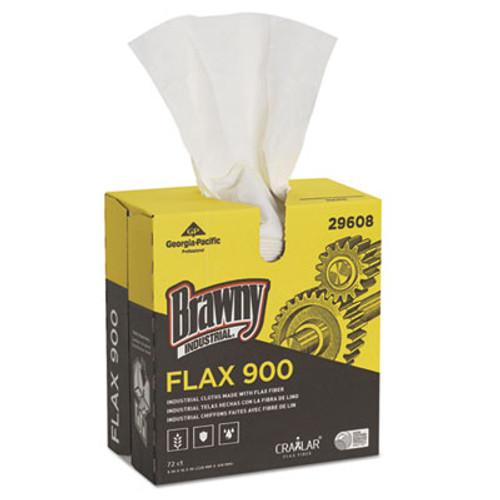 Brawny Industrial FLAX 900 Heavy Duty Cloths  9 x 16 1 2  White  72 Box  10 Box Carton (GPC29608)