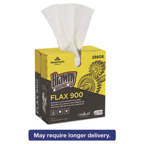 Brawny Industrial FLAX 900 Heavy Duty Cloths  9 x 16 1 2  White  72 Box  10 Box Carton (GPC29608)