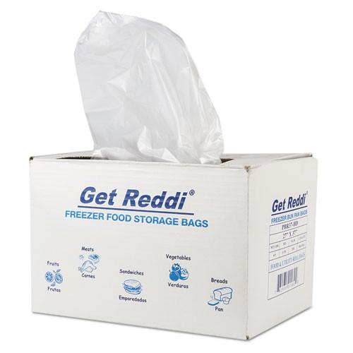 Inteplast Group Get Reddi Freezer Food Storage Bags  0 5 mil  27  x 37   Natural  200 Carton (IBSPBR37HD)