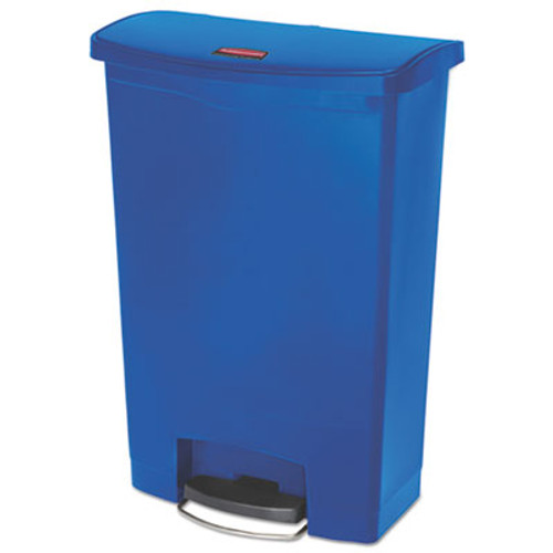 Rubbermaid Commercial Slim Jim Resin Step-On Container  Front Step Style  24 gal  Blue (RCP1883597)