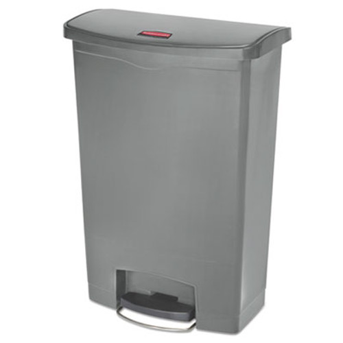 Rubbermaid Commercial Slim Jim Resin Step-On Container  Front Step Style  24 gal  Gray (RCP1883606)
