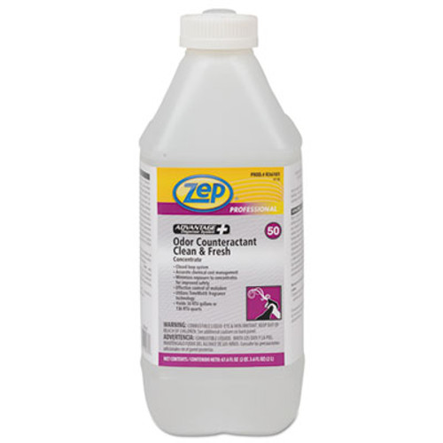 Zep Professional Concentrated Odor Counteractant, Clean & Fresh, 67.6 oz Bottle, 4/Carton (ZPER36101CT)