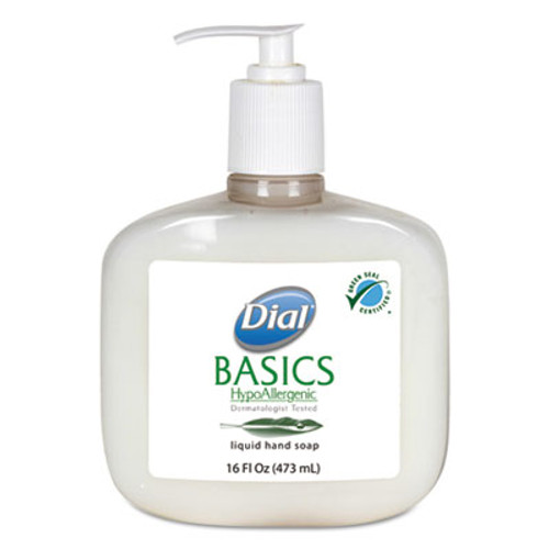 Dial Professional Basics Liquid Hand Soap, Rosemary & Mint, 16 oz Pump Bottle (DIA06044EA)