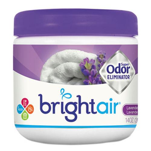 BRIGHT Air Super Odor Eliminator, Lavender and Fresh Linen, Purple, 14oz, 6/Carton (BRI900014CT)