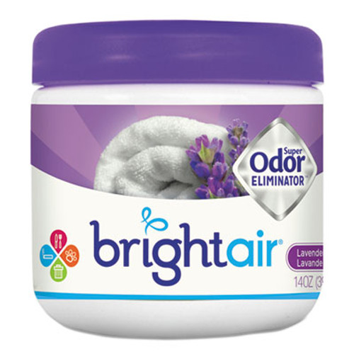 BRIGHT Air Super Odor Eliminator  Lavender and Fresh Linen  Purple  14 oz  6 Carton (BRI900014CT)