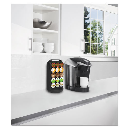 Mind Reader Coffee Pod Carousel  Fits 30 Pods  6 7 8 x 6 7 8 x 12 5 8  Black (EMSCRS02BLK)
