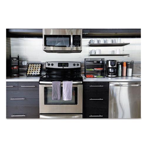 Safco Onyx Breakroom Organizers  3 Compartments  6 x 6 x 18  Steel Mesh  Black (SAF3290BL)