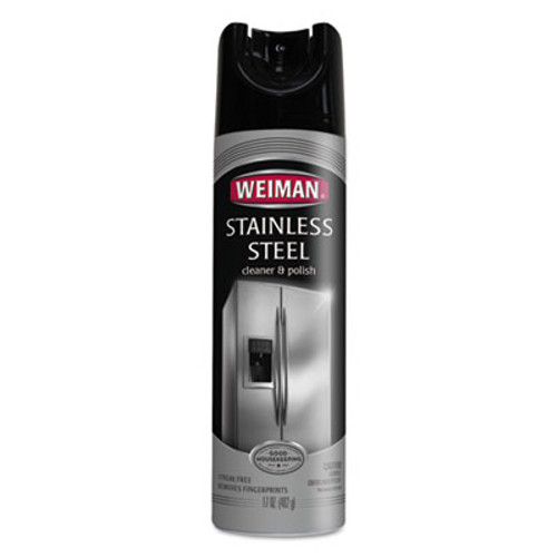 WEIMAN Stainless Steel Cleaner and Polish  17 oz Aerosol  6 Carton (WMN49CT)