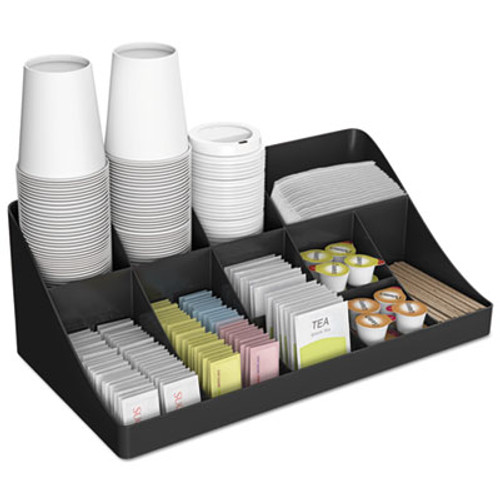 Mind Reader 11-Compartment Coffee Condiment Organizer  18 1 4 x 6 5 8 x 9 7 8  Black (EMSCOMORGBLK)