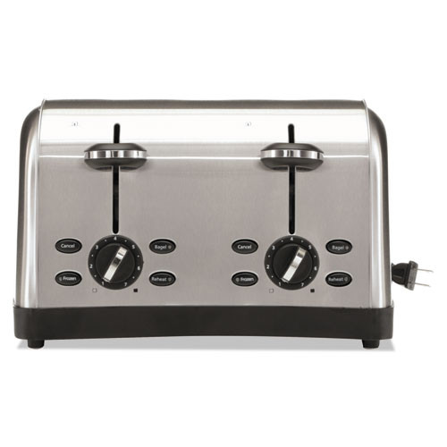 Oster Extra Wide Slot Toaster  4-Slice  12 3 4 x 13 x 8 1 2  Stainless Steel (OSRRWF4S)