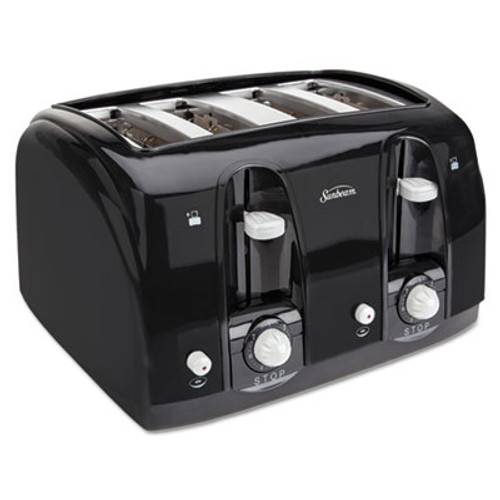 Sunbeam Extra Wide Slot Toaster, 4-Slice, 11 3/4 x 13 3/8 x 8 1/4, Black (SUN39111)