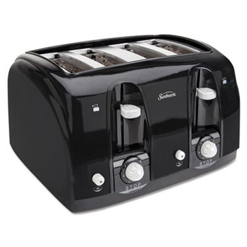 Sunbeam Extra Wide Slot Toaster  4-Slice  11 3 4 x 13 3 8 x 8 1 4  Black (SUN39111)