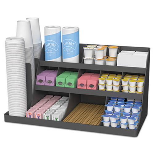 Mind Reader Extra Large Coffee Condiment and Accessory Organizer 24 x 11 4 5 x 12 1 2  Black (EMSCOMORG02BLK)