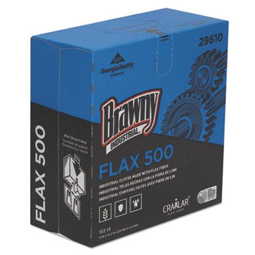Brawny Industrial FLAX 500 Light Duty Cloths  9 x 16 1 2  White  132 Box  10 Box Carton (GPC29610)