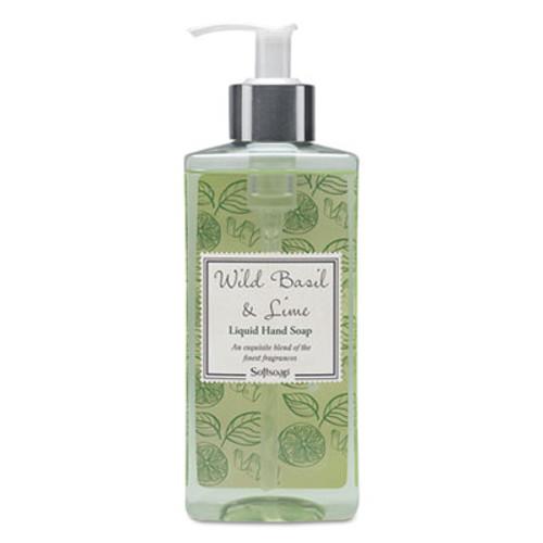 Softsoap Elements Liquid Hand Soap, Wild Basil & Lime, 10 oz Pump Bottle (CPC26929EA)