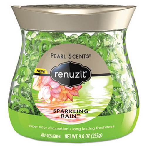 Renuzit Pearl Scents Odor Neutralizer, Sparkling Rain, 9 oz Jar, 8/Carton (DIA02222CT)