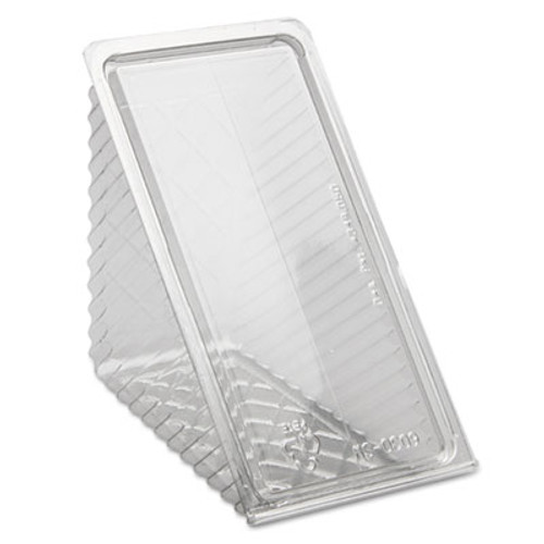Pactiv Hinged Lid Sandwich Wedges  Plastic  Clear  6 1 2 x 3 x 3 1 4  85 PK  3 PK CT (PCTY11334)