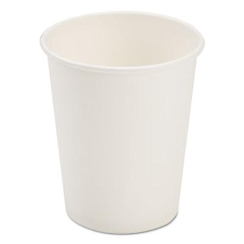 Pactiv Dopaco Paper Hot Cups, 8 oz, White, 50/Bag, 20 Bags/Carton (PCTD8HCW)