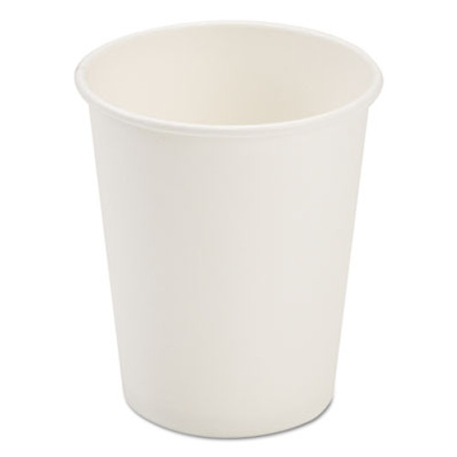 Pactiv Dopaco Paper Hot Cups  8 oz  White  50 Bag  20 Bags Carton (PCTD8HCW)