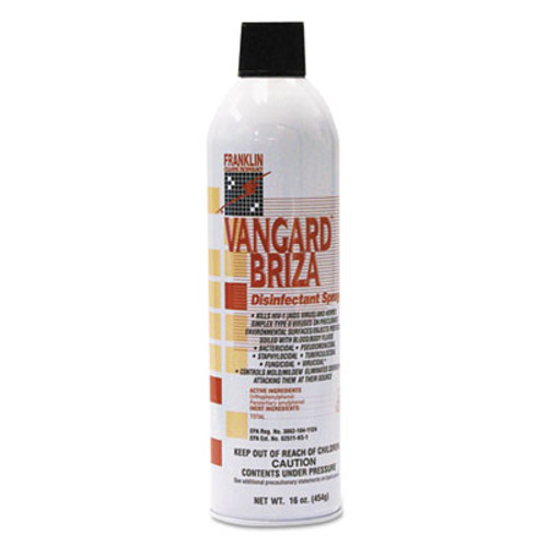 Franklin Cleaning Technology Vangard Briza Surface Disinfectant Space Spray  Linen Fresh  16oz Aerosol  12 CT (FKLF811015)