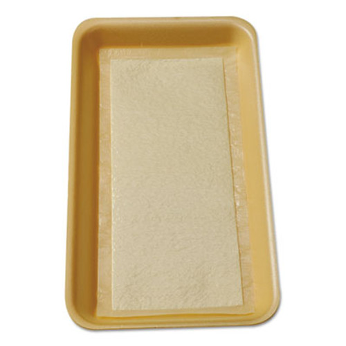 International Tray Pads Meat Tray Pads, 6w x 4 1/2d, White/Yellow, 2000/Carton (ITRTA1341108)
