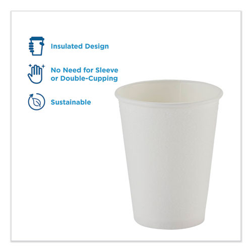 Dixie PerfecTouch Hot Cold Cups  12 oz   White  50 Bag  20 Bags Carton (DXE5342W)