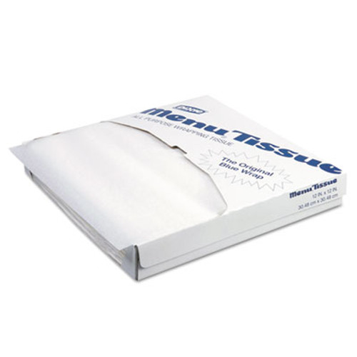 Dixie Menu Tissue Untreated Paper Sheets  12 x 12  White  1000 Pack  10 Carton (DXE862491)