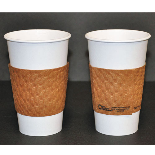 Dopaco Kraft Hot Cup Sleeves  For 10-24 oz Cups  Brown  1000 Carton (PCTDSLVBRN)