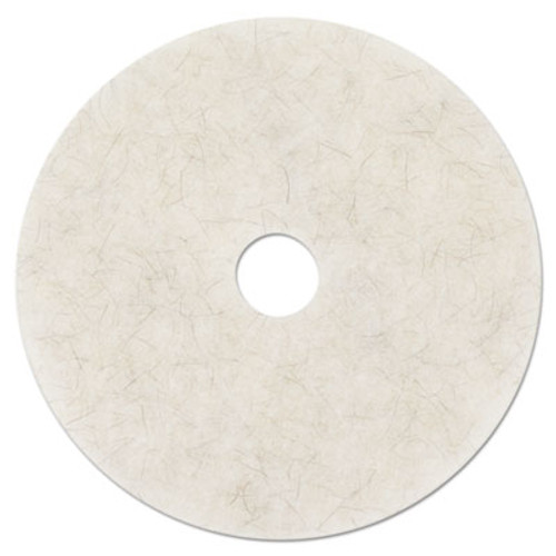 3M Ultra High-Speed Natural Blend Floor Burnishing Pads 3300  24  Dia   White  5 CT (MMM18213)