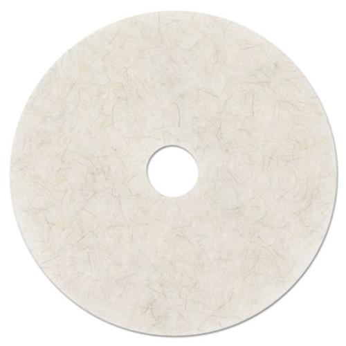 3M Ultra High-Speed Natural Blend Floor Burnishing Pads 3300  24  Dia   White  5 CT (MMM18213)
