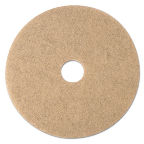 3M Ultra High-Speed Natural Blend Floor Burnishing Pads 3500  21  Dia   Tan  5 CT (MMM19009)