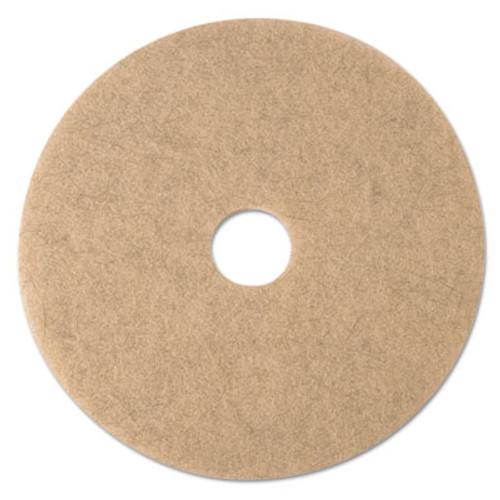 3M Ultra High-Speed Natural Blend Floor Burnishing Pads 3500  21  Dia   Tan  5 CT (MMM19009)