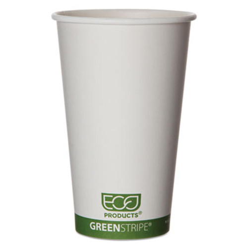 Eco-Products GreenStripe Renewable   Compostable Hot Cups - 16 oz   50 PK  20 PK CT (ECOEPBHC16GS)