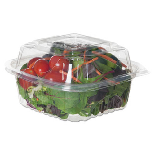 "Eco-Products Renewable & Compostable Clear Clamshells - 6"" x 6"" x 3"", 80/PK, 3 PK/CT (ECOEPLC6)"