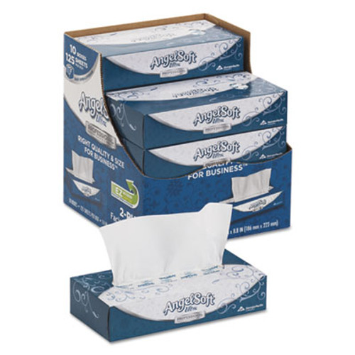 Angel Soft ps Ultra Facial Tissue  2-Ply  White  125 Sheets Box  10 Boxes Carton (GPC4836014)