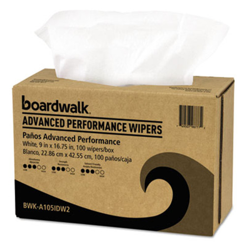 Boardwalk Advanced Performance Wipers  White  9x16 3 4  10 Pack Dispensers of 100  1000 Ct (BWKA105IDW2)