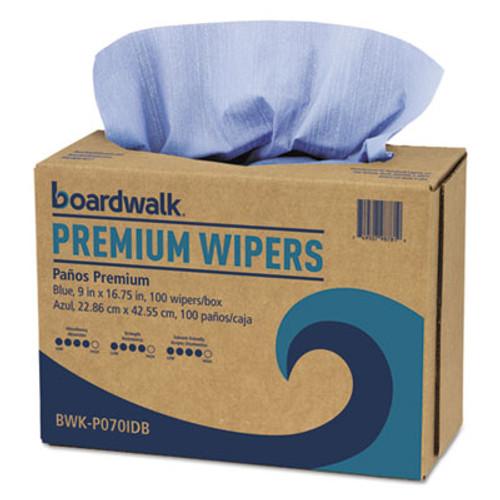 Boardwalk Hydrospun Wipers  Blue  9 x 16 75  100 Wipes Box  10 Boxes Carton (BWKP070IDB)