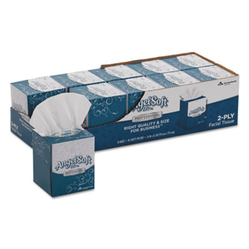 Angel Soft ps Ultra Facial Tissue  2-Ply  White  96 Sheets Box  10 Boxes Carton (GPC4636014)