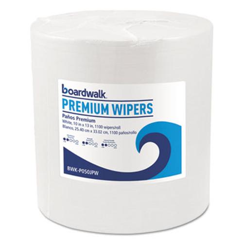 Boardwalk Hydrospun Wipers  White  10 x 13  1100 Roll (BWKP050JPW)