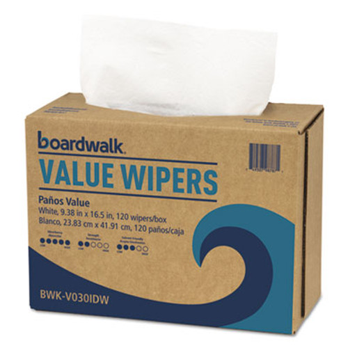 Boardwalk DRC Wipers  White  9 1 3 x 16 1 2  9 Dispensers of 100  900 Carton (BWKV030IDW2)