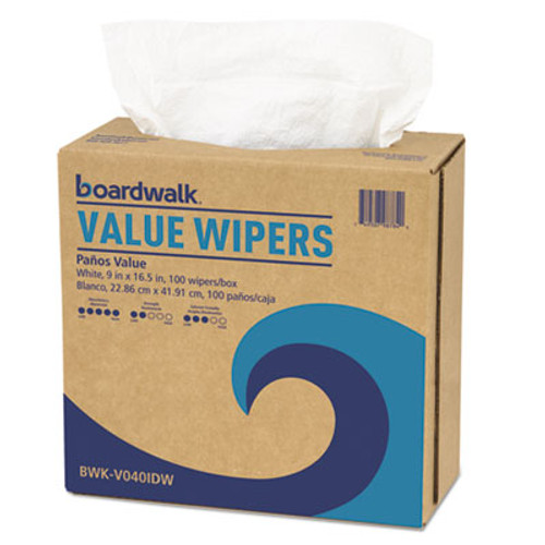 Boardwalk DRC Wipers, White, 9 x 16 1/2, 900/Carton (BWKV040IDW)