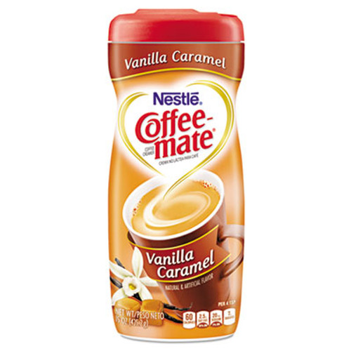 Coffee mate Non-Dairy Powdered Creamer  Vanilla Caramel  15 oz Canister (NES49410)