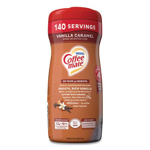 Coffee mate Non-Dairy Powdered Creamer  Vanilla Caramel  15 oz Canister (NES49410)