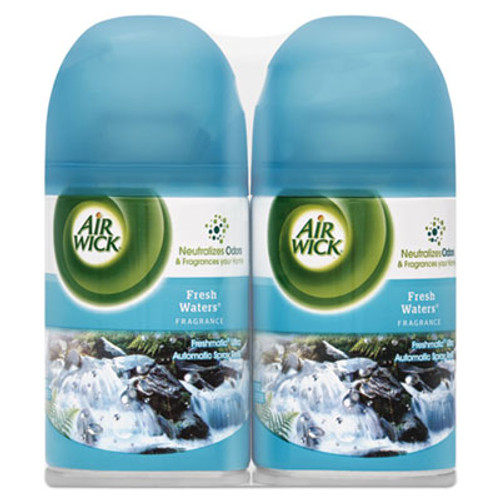 Air Wick Freshmatic Ultra Spray Refill  Fresh Waters  Aerosol  5 89 oz  2 Pack 3 Packs Carton (RAC82093CT)