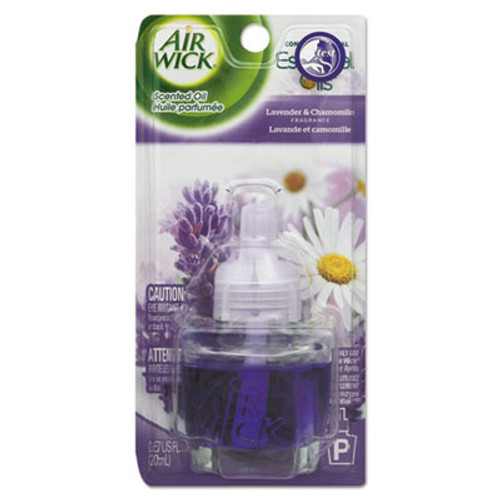 Air Wick Scented Oil Refill  Lavender   Chamomile  0 67 oz  Purple  8 Carton (RAC78297CT)