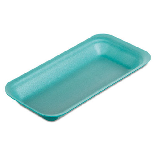 Genpak Supermarket Trays  Foam  Green  8 3 8  x 3 3 8 x 7 8   500 Carton (GNP1115GN)