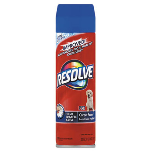 RESOLVE Pet High Traffic Foam Carpet and Upholstery Cleaner  22 oz  Aerosol  12 Carton (RAC83262CT)