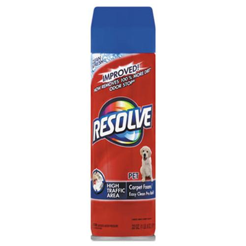 RESOLVE Pet High Traffic Foam Carpet and Upholstery Cleaner  22 oz  Aerosol  12 Carton (RAC83262CT)